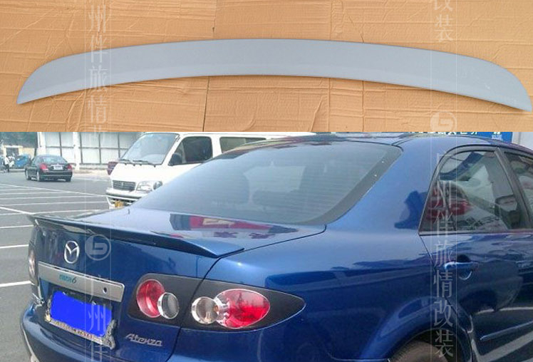 car Spoilers for Mazda 6 03-08  tailplane sports big tailplane abs material water pipe.Primer Unpainted карнавальные аксессуары magic time ободок маскарадный снежинка