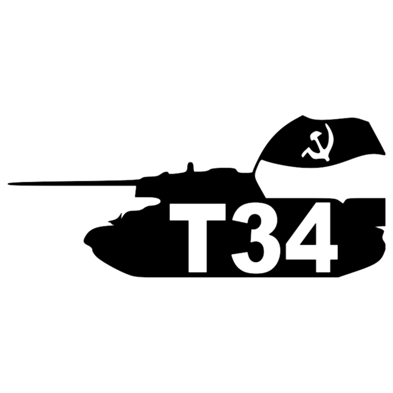 CS-537#10*23cm T-34 funny car sticker and decal silver/black vinyl auto stickers