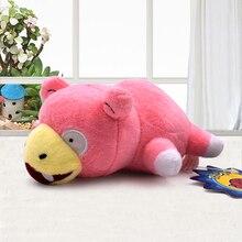 Pikachu Plush Figure Toys Cute Cartoon 19cm Kong Idiot Lying Prone Slowpoke Soft Stuffed Animal Dolls Kids Gift