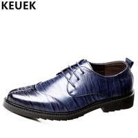 Luxury Men Casual leather shoes Lace Up Pointed Toe Office business shoes Genuine leather Male Flats Oxfords Derby Shoes 3A