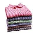 Новая Мода Мужчины Полосатый Рубашка 2016 Весна Осень Slim Fit с длинным Рукавом Мужские Рубашки Платья Мужской Социальной Рубашки Вскользь Camisa