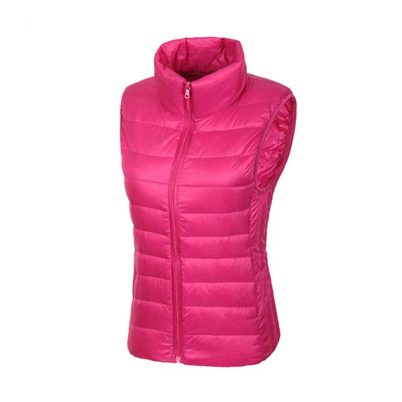Women's Vest Coats Thin 90% Goose Duck Down Colete Feminino Doudoune Femme 2018 New Waistcoat Slim Short Jackets Parka Plus XXXL