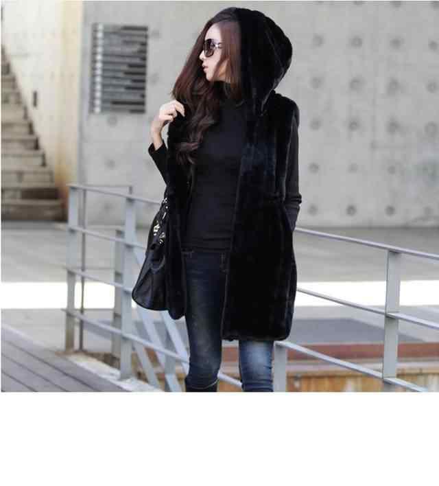 Vetement 2019 Новый зима-осень Для женщин страусиное меховое длинная норка жилет Femme куртки из искусственного меха Искусственный мех жилет ZM44