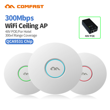 COMFAST CF-E320V2 300M WiFi Ceiling Wireless AP 802.11b/g/n QCA9531 Enterprise Wifi System AP 48V POE OPEN DDWRT Access Point AP new original ap 114br a plc 100 240vac npn pnp 8 point relay 6 point ap