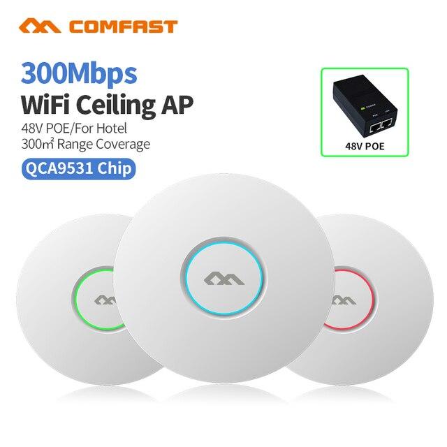 COMFAST CF E320V2 300M WiFi Ceiling Wireless AP 802.11b/g/n QCA9531 Enterprise Wifi System AP 48V POE OPEN DDWRT Access Point AP