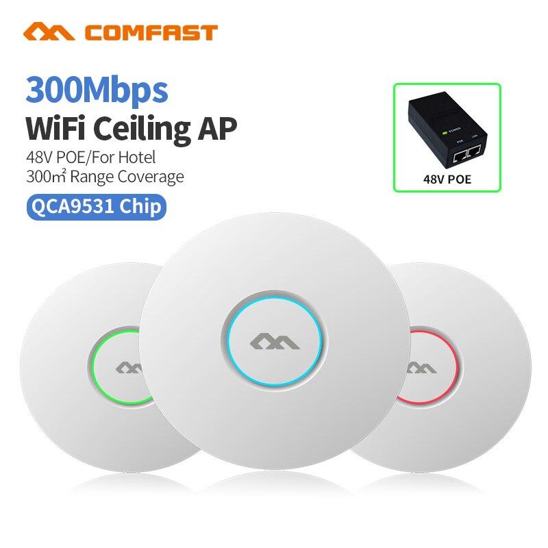COMFAST CF-E320V2 300M WiFi techo inalámbrico AP 802.11b/g/n QCA9531 empresa Wifi sistema AP 48V POE abierto dddwrt Punto de Acceso AP