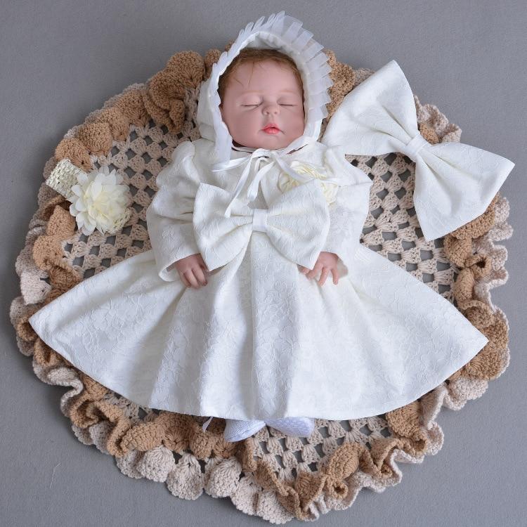 Us 2515 46 Offbaby Mädchen Taufe Kleid Mit Hut Jacke Bogen Ball Formal Taufe Kleidung 2019 Baby Mädchen Kleidung Taufe Kleider Rbf164708 In