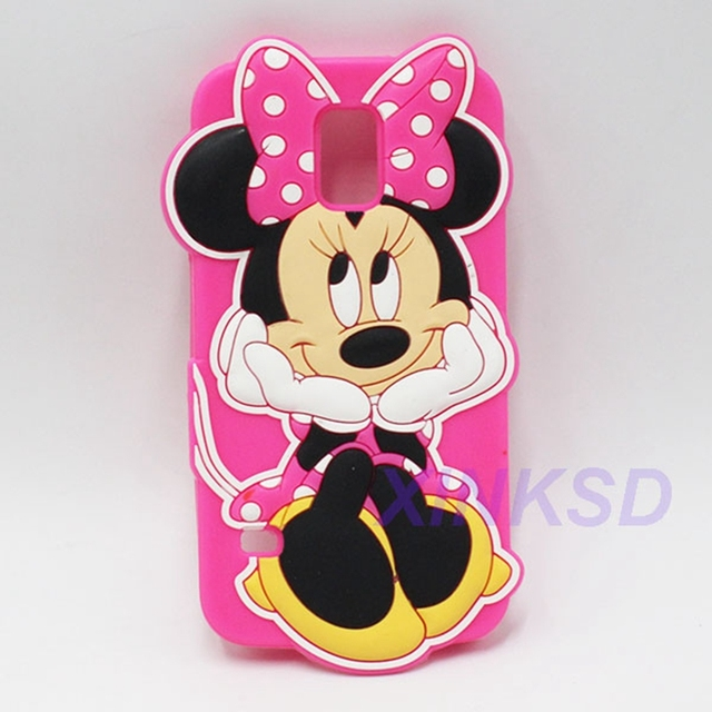 3d Cartoon Silicone Minnie Mouse Back Cover Case For Samsung Galaxy