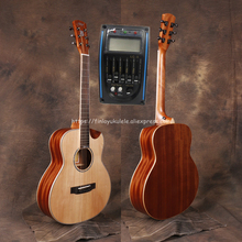36 GSMINI guitar With Solid Spruce top /Mahogany Body,Half cutaway size Body,Electric guitarras with pickup tuner,JD-M312SCE