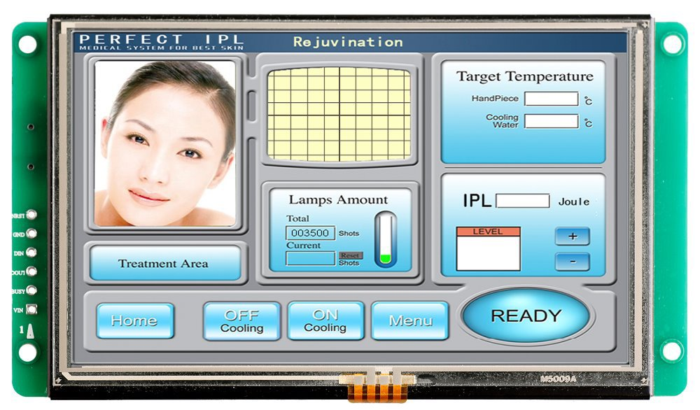 8 Inch Smart TFT LCD Touch Screen With RS232 Interface8 Inch Smart TFT LCD Touch Screen With RS232 Interface