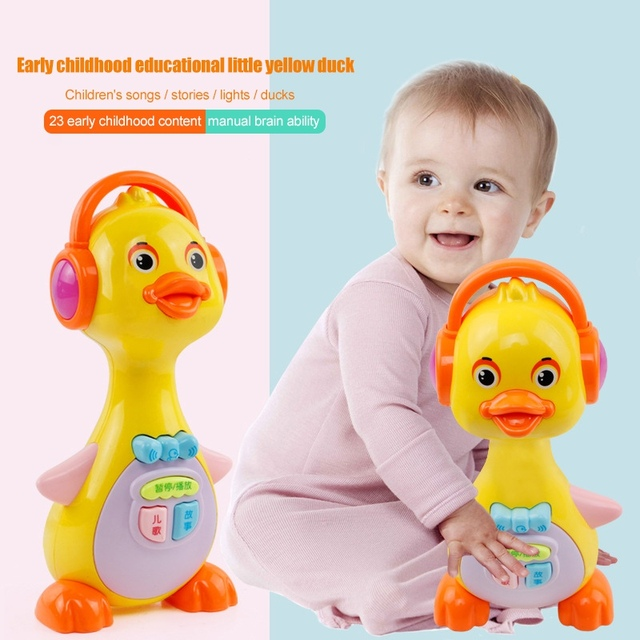 1 Piece Electric Cartoon Light Music Playing interest Story Machine Children Early Educational Baby Musical Toys Funny Games