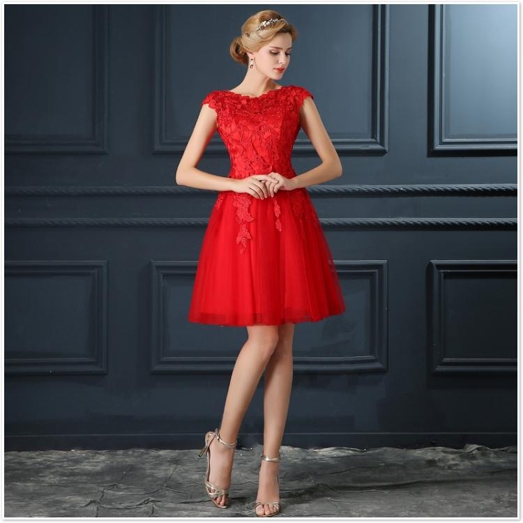 Robe De Soiree 2017 gery u collar Lace Up short evening dress abendkleider vestito da sera prom dresses party dresses 4 colors 8