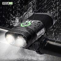 WOSAWE USB Rechargeable Bike Light 2400 Lumen Cycling Led Light Battery Flashlight Torch Front Handlebar Lantern