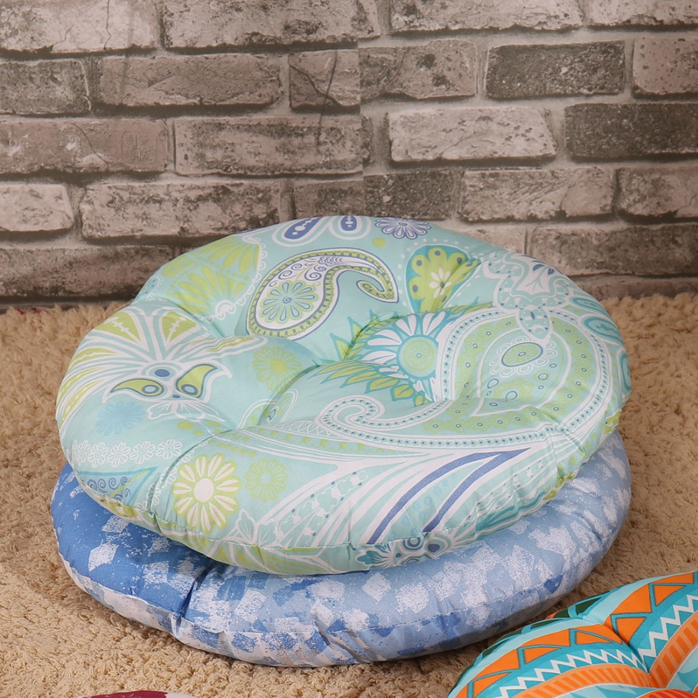 SewCrane Abstract Floral on Blue Japanese Seating Functional Cushion ...