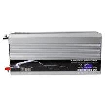 цена на 8000W Pure Sine Wave Power Inverter DC 12V/24V/48V To AC 220V Solar Power Car Converter Peak Power 16000W for Camping Travel