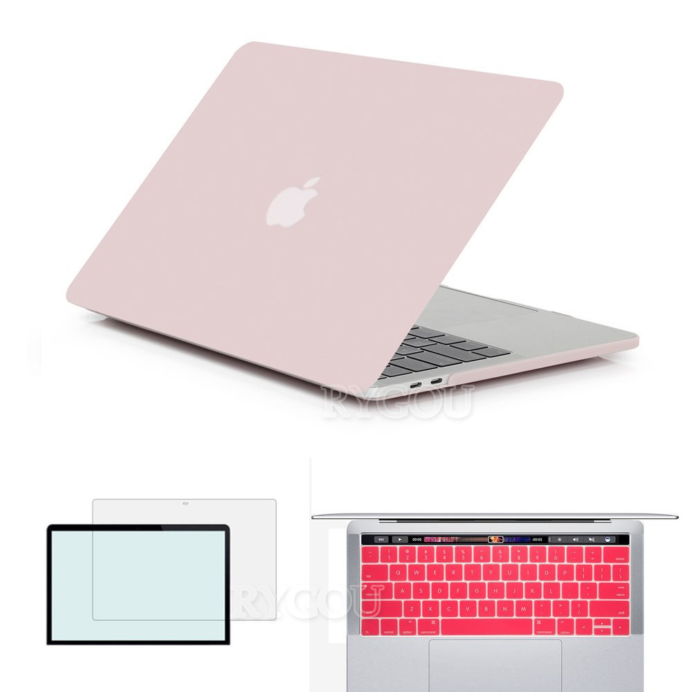 Clear Matte Hard Cover Case for New MacBook Pro 13 2016 with Touch Bar A1706 Case for Mac Book Pro 13.3 inch A1708 & 15.4 A1707