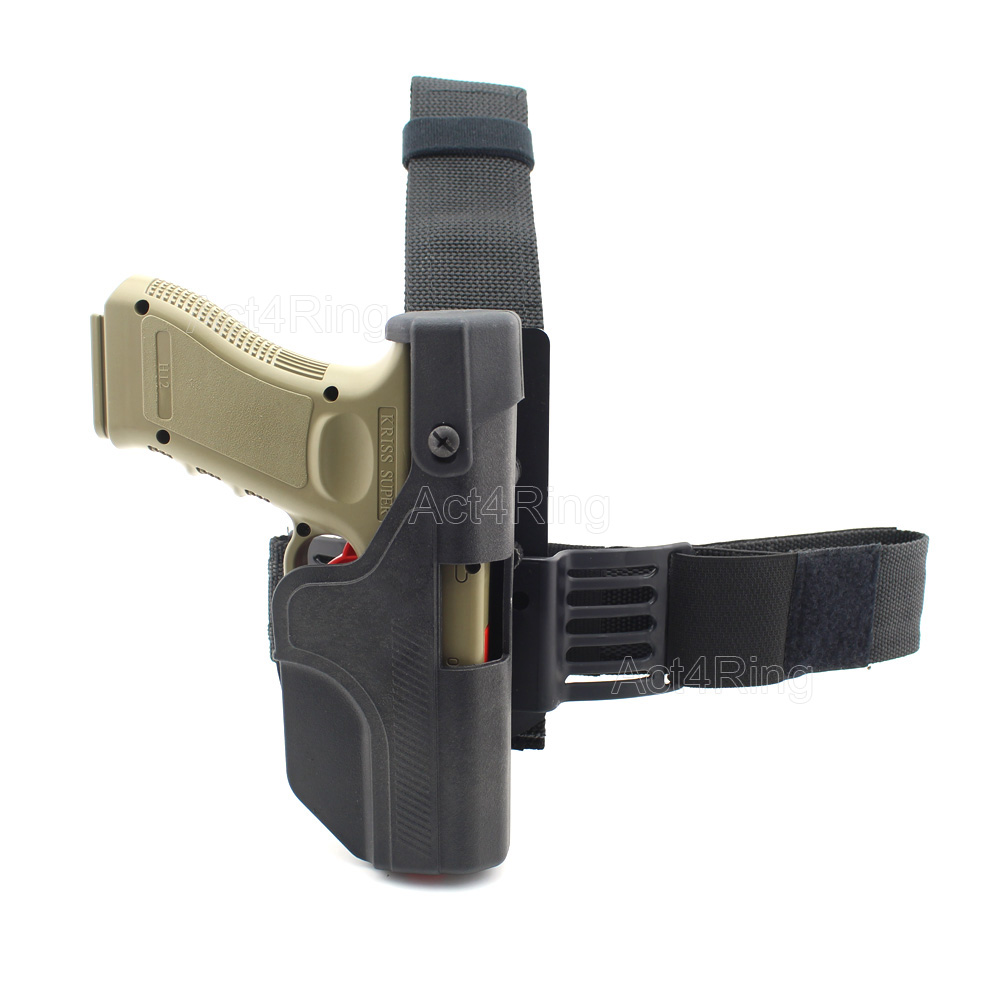 Tactical Auto Loading Holster Level 3 Lock Drop Leg Thigh Pistol Holster for Glock 17 19 23 sig sauer p226 p228 p229 holster tactical hunting puttee thigh drop leg holster