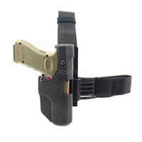Tactical Auto Loading Holster Level 3 Lock Drop Leg Thigh Pistol Holster For Glock 17 19