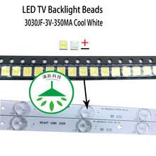 100pcs/lot new high power cool white lamp beads 3v for lcd tv repair led tv backlight strip light-diode 3030 smd цена