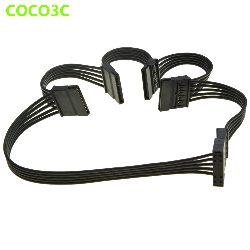Sata Cable Port : Pin sata to ports power supply extension cable for