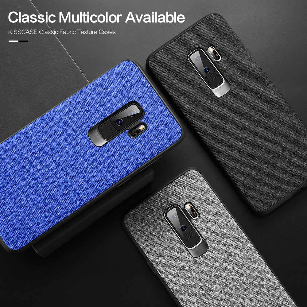 timeless design 55dc4 93f40 KISSCASE Case For Samsung Galaxy Note 9 8 Fabric Leather Original Back  Cover Cases For Samsung Galaxy Note 8 9 Phone Accessories