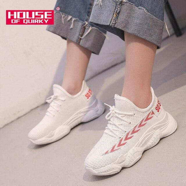 Malla Mujer 2019 CordonesZapatillas Con Informales De Correr Y Vulcanizados Primavera Para Zapatos MujerCómodos TranspirablesDeportivos 35ARj4Lq