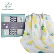 Baby Muslin Swaddle Blankett 3 Pack - 47 '' x 47 '' Stor Mottagande Blankett För Unisex Nyfödd Perfekt För Nursery Set Bästa Dusch