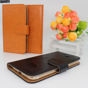 Hot! 2017 Oukitel K6000 Plus Case, 6 Colors High quality Full Flip Fashion Customize Leather Exclusive Cover with Tracking