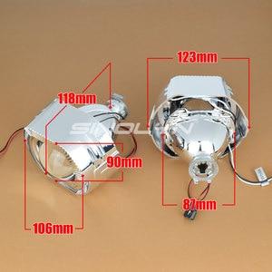 Image 5 - Sinolyn Headlight Lenses LED Angel Eyes Bi xenon Lens 2.5 Devil Eyes Headlamp Projector H4 H7 H1 Car Lights Accessories Tuning