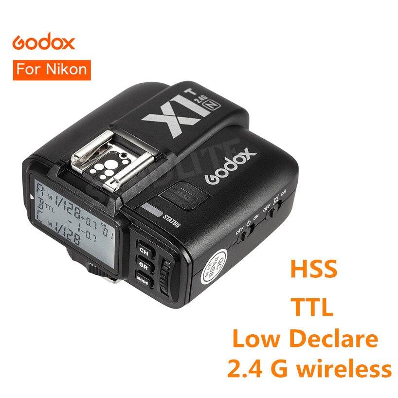 Godox X1N X1T N TTL 2 4 G Wireless 1 8000s HSS 32 Channels Camera Flash