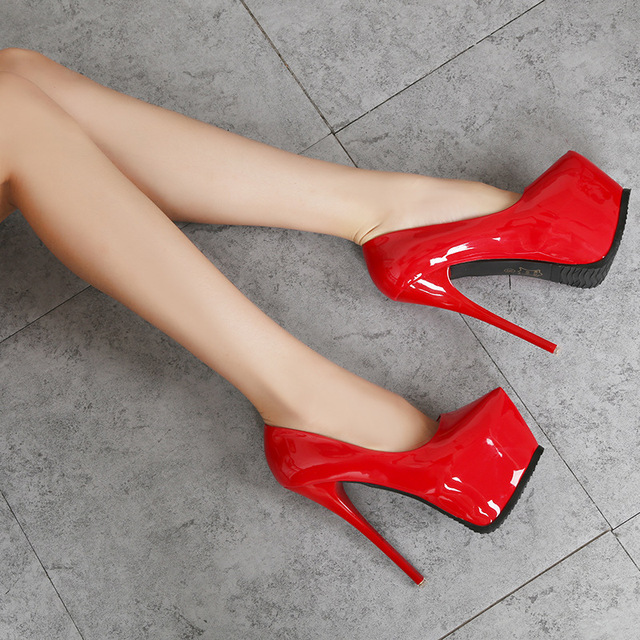 2019 fashion women Super High Heels shoes Concise platform shoes Thin summer shoes pumps Wedding Party Sexy 14cm shoes RA-30