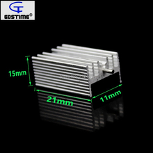 500Pcs Aluminium TO-220 Heatsink TO 220 Heat Sink Transistor Radiator TO220 Cooler Cooling 7805 21*15*10MM 12tq040 to 220 2