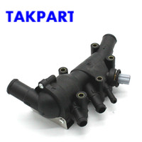 TAKPART New Engine Coolant Thermostat housing sensor for Ford KA 1337823, 1130416, 1218087 XS6E8A586AH