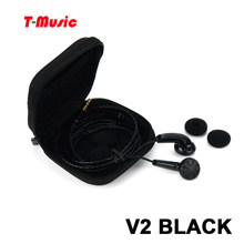 New Version2 Black / Hifi T-Music DIY Earphone / 3.5mm In-Ear Headset(China)