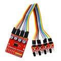 Four-Way Rastreamento Infravermelho Módulos Obstacle Avoidance Módulo Sensor De Monitoramento De Linha de Transmissão de 4 Canais para Arduino