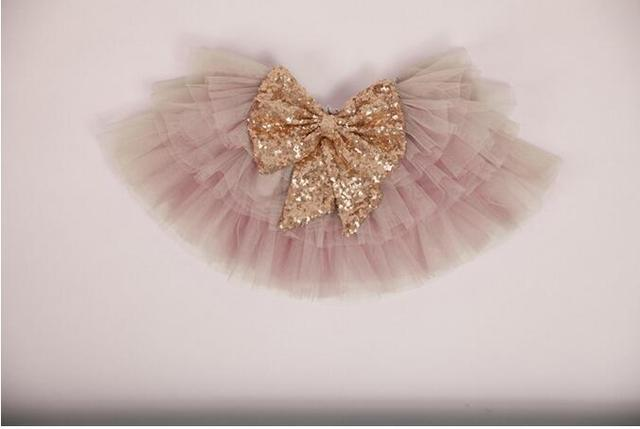 2016 New Sequined Bow Cake Skirt For Kids Baby, Princess Fashion Candy Dance Wear Wholesale 5 pcs/lot, Free Shipping