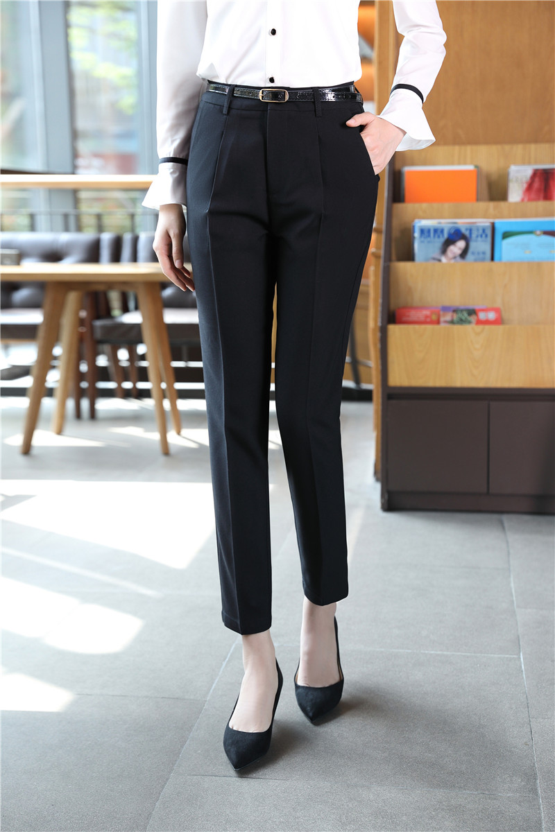 5d81fb0c8ab84 US $20.61 10% OFF Aliexpress.com : Buy New Style Spring Fall Formal Women  Pants Trousers for Office Ladies Pencil Pants Elegant Black Free Shipping  ...