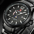 Naviforce Brand Sport Watches Men Quartz Watch Steel Band Luminous Wristwatches for Men Waterproof Relogio Masculino 2016 New