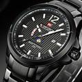 Naviforce Marca Esporte Relógios Dos Homens Relógio de Quartzo Banda de Aço Luminosa Relógios De Pulso para Homens Relogio masculino À Prova D' Água 2016 Novo