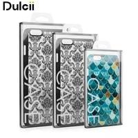 DULCII 100 Adet/grup/Boyutu KJ-699 Şeffaf PVC Perakende Paket Kutusu için Telefon Kılıfı Telefon Arka Kapak için Ambalaj