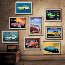 Retro Car Vintage Metal Plate Tin Signs Wall Poster Decals Painting Bar Club Pub Home Decor 30*20cm 1001(650)