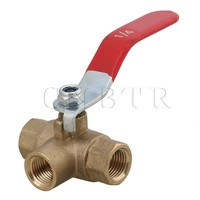 1 4 Inch BSPP Full Ports Brass Ball Valve Three Way Compressed Air Water Oil