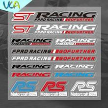 12x12cm ST RS RACING Gofuther Motorcraft Sticker Set Refitting Car Styling Decals DIY Window Exterior Interior Decor for Ford