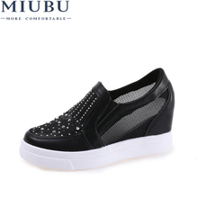 MIUBU 2019 Elegant Trendy Sneakers Women Leather Shoes Comfortable Sewing Platform Superstar Large Size 35-39