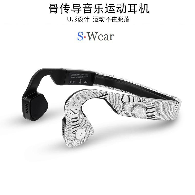 S.Wear Wireless Bluetooth 4.0 Headset HD Stereo Neck-strap Headphones Bone Conduction Hands-free Sports Driving Smart Earphones wireless bone conduction bluetooth 4 1 headset sports headphones with separate wiring diagram