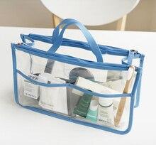 New Transparent Multi-functional Women Makeup Organizer Cosmetics Bag Toiletry Kits Bag Case Handbag Travel Bag Bolsas