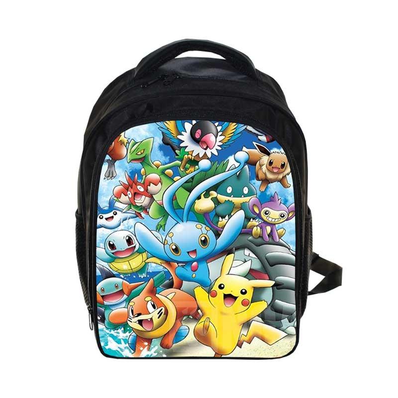 Cartoon Anime Pokemon Rygsække Pikacun Studerende Skole Tasker Satchel Bag Med Pencil Case For Boys Girls Back To School Gifts