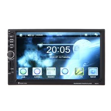 """2016 New 2 Din 7"""" HD Touch Screen car dvd player gps navigation USB Bluetooth FM in dash MP5 Player TF support rear view camera"""