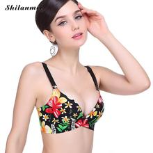 High Quality Sexy Women Flower bralette Adjustable Brassiere Seamless Lingerie Super Push Up Bra 3/4 Cup Strappy Bras For Women