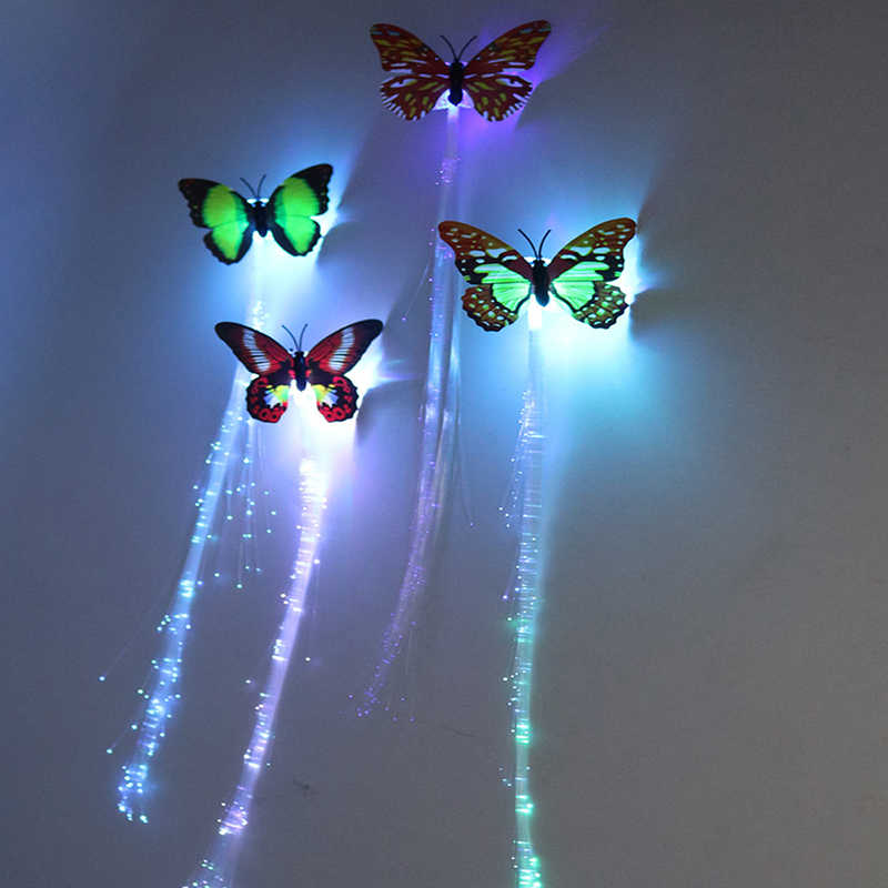 1/10/100pcs Colorful butterfly light braids / luminous hair braids/luminous toys/baby toys for children/toy